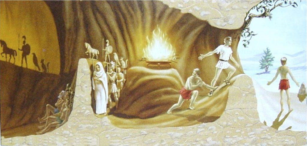 La alegoría de la caverna de Platón, Explica que no captamos el mundo tal cual es, solo percibimos una especie de sombra superficial del mismo