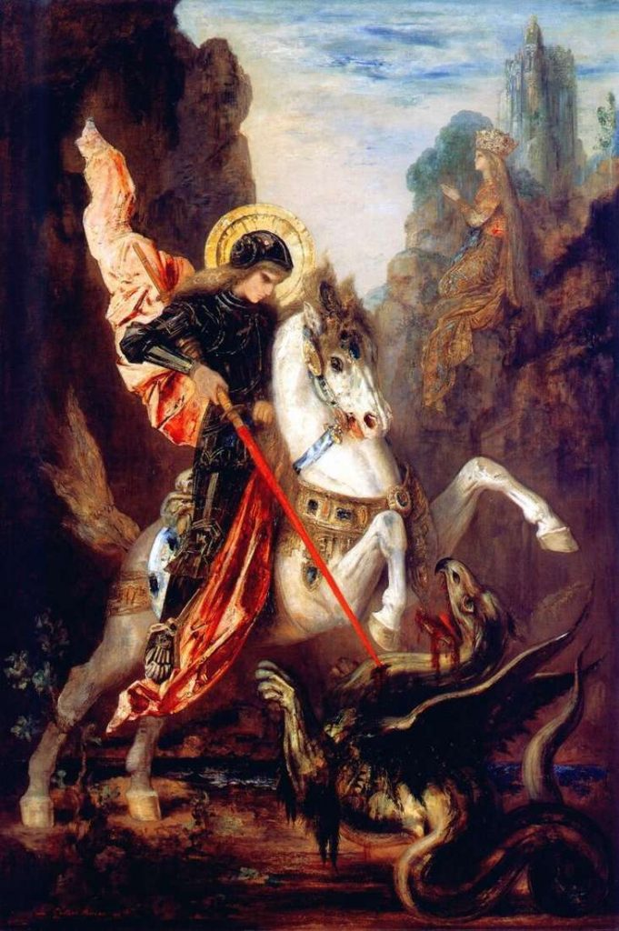 San Jorge matando al dragón, simboliza la muerte psicológica.