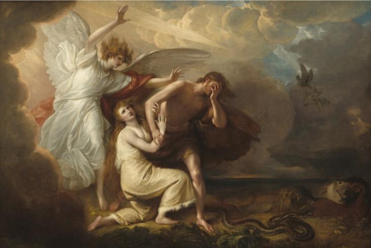 Adán y Eva , simbolizan a toda una humanidad que perdió el estado paradisíaco.